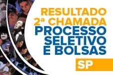 PROCESSO SELETIVO – RESULTADO 2º CHAMADA E RESULTADO DAS BOLSAS – SÃO PAULO