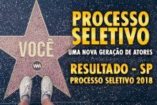 RESULTADO SP – PROCESSO SELETIVO 2018.2